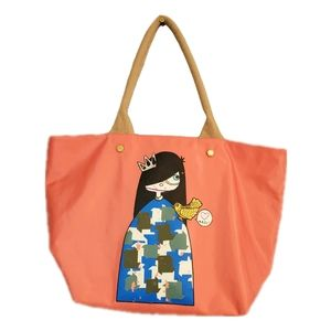 Marc Jacobs Pink Tote with Cartoon Girl